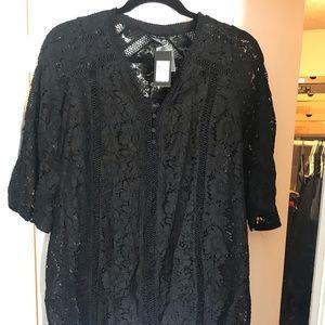 Short black city chic dress
